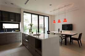 rectangular kitchen ideas kitchen modern kitchen diner decorating ideas photos grey uk