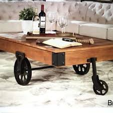 coffee table with caster wheels coffee table with iron caster wheels rustic cart vintage design wood