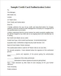 credit card authorization letter 10 download documents in pdf word