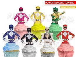 power rangers cake toppers power rangers cupcake toppers power rangers cake topper printable
