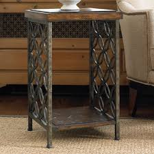 Wood Accent Table Hooker Furniture Living Room Accents Gmelina Wood And Iron Accent