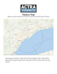 Google Maps Radius Actra Toronto Radius Map Actra Toronto
