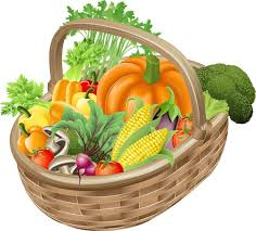 fruit and vegetable baskets basket of vegetables clipart clipartxtras