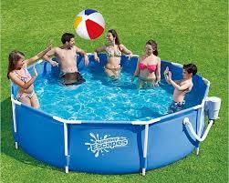 Intex 12x30 Pool Summer Escapes 10 Foot Metal Frame Pool Set Summer Fun At Kmart