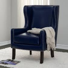 Linen Wingback Chair Design Ideas Navy Blue Wing Chair Blue Chairs Navy Blue Leather Wing Chair
