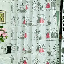 great sale waterproof shower curtains buy white