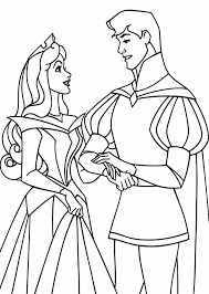 coloring pages sleeping beauty kids coloring