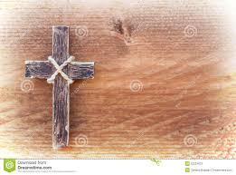 rustic wooden crosses wooden cross hanging on rustic wooden background stock image