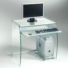 bureau en verre inside 75 bureau en verre transparent zani pas cher achat