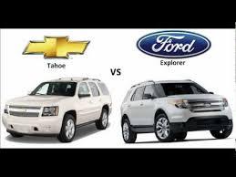 chevrolet tahoe 2013 vs ford explorer 2013