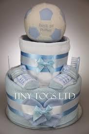 luxury baby boy three tier nappy cake with cute teddy new born