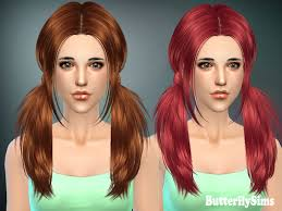 the sims 4 cc hair ponytail bfly068 hairstyles b fly provide personalized hairstyle to