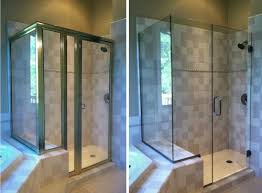 The Shower Door Before And After Framed Vs Frameless Shower Doors