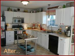 Inexpensive White Kitchen Cabinets by Inexpensive Diy Kitchen Cabinet Update