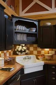corner kitchen cabinet design with sink outofhome checkered backsplash tile with black cabinet feat corner sink under plate racks