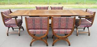 Large Oak Kitchen Table by Oak Extending Dining Table U0026 Six Matching Carver Armchairs