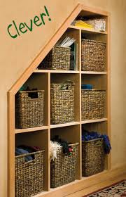 creative space notch out a wall between studs and make shelves to