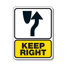 traffic pattern sign keep right directional signs seton