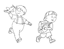 printable caillou coloring pages printable caillou coloring