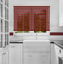 burgundy red venetian blind