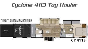 Toy Hauler Floor Plans Cyclone Toy Hauler Floorplans Cyclone Toy Hauler Trailers