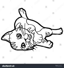 cat coloring pages for kids cartoon cat coloring pages simple cat coloring page vector with