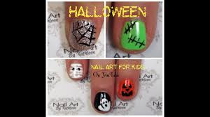 halloween nail art for kids 5 easy diy nail designs youtube