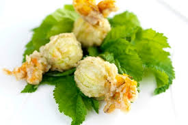 cuisine courgette tempura of stuffed courgette flowers recipe great chefs
