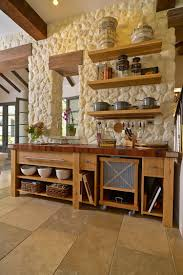 Kitchen Floor Design Ideas 30 Inventive Kitchens With Stone Walls