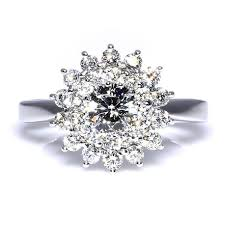 snowflake engagement ring vintage snowflake diamond ring