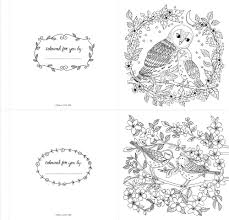 the colouring book of cards and envelopes nature from national trust