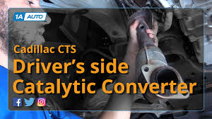2003 cadillac cts catalytic converter how to replace install driver side catalytic converter 2006