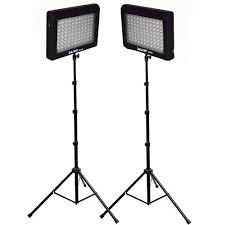 led studio lighting kit bescor led 95dk2 dual led light kit led 95dk2 b h photo video