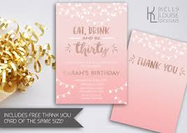 30th birthday invitation thirty eat drink and be thirty