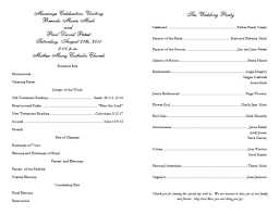 wedding bulletins exles catholic wedding program search erynne