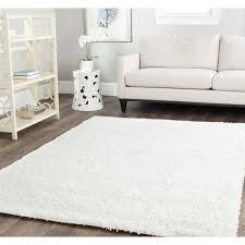 Cheap Area Rugs 7x9 Safavieh Cozy Solid White Shag Rug Overstock Shopping Great
