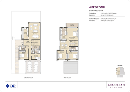 arabella phase 3 three bedroom townhouse semi detached floor plan