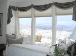 Triple Window Curtains Interior Exquisite Picture Of Home Interior Decoration Using