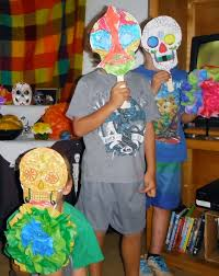 halloween or dia de los muertos sugar skull mask making craft