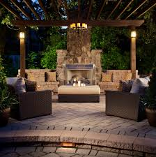 rustic outdoor lighting ideas deck contemporary with wood stump