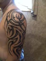 half sleeve tribal tattoo for men tribal skull sleeve tattoo for