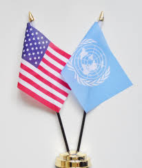 Flags Of Nations United States Of America Usa U0026 United Nations Un Friendship Table Flag