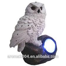 solar powered garden ornaments white owl for sale buy white owl