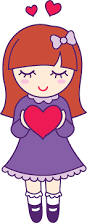 valentines day holding heart free clip art