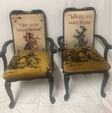 alice in wonderland dining room chair black high backed chair