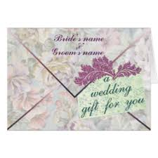 Wedding Gift Money Cheque Gifts On Zazzle