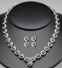 diamond blue necklace images Gemstone necklace 8 55 ct diamond blue sapphire gold wedding jpg&a
