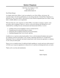 cover letter police officer cover letter examples law enforcement no experience resume