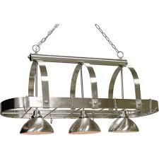 brushed nickel pendant lighting kitchen volume lighting 3 light brushed nickel pot rack pendant v3023 33