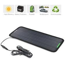 amazon com new smart 12v 5w portable car boat power solar panel